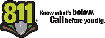 811 logo to remind people to call before digging